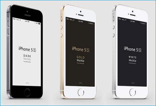 3-4 iPhone 5S Mockup