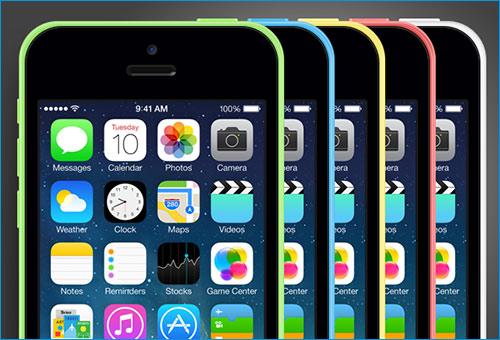 iPhone 5C mockup