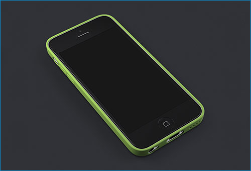 iPhone 5c + Case Showcase Template