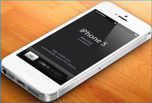3D iPhone 5 Mockup