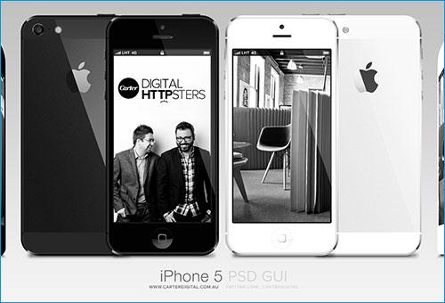 iPhone 5 GUI