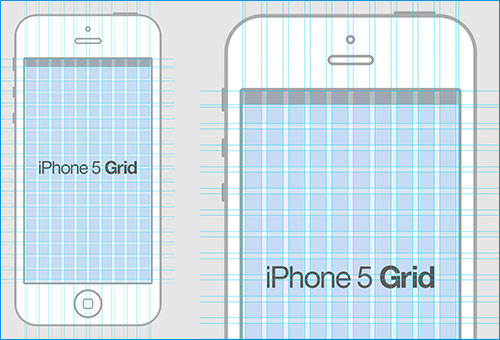iPhone 5 Grid mockup psd