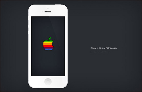 iphone5 minimal psd
