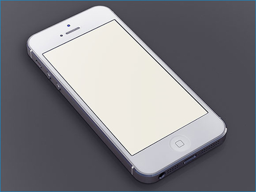 White iPhone5 PSD mockup