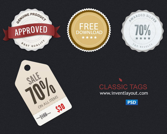 tags-psd - Free Photoshop Templates