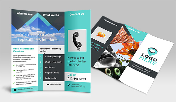 tri-fold-brochure-preview - best Free Photoshop Templates