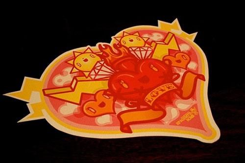 Valentine Badge by Enrico De Carlo