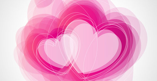Create Abstract Valentine's Day Illustration With Hearts