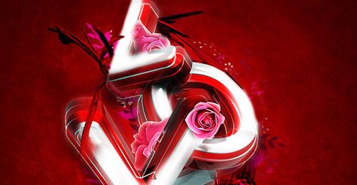 3D Valentine's Day Typography Tutorial