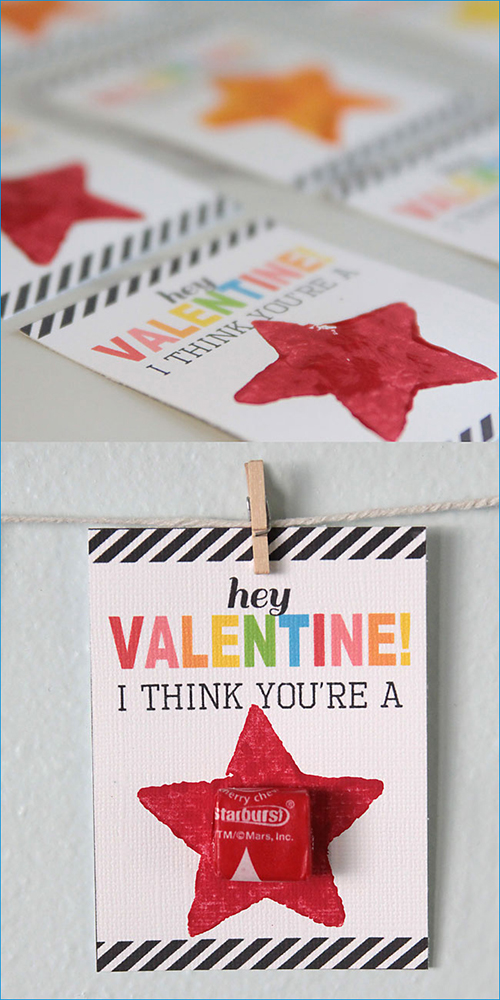 """""""you're a star!"""" V-day cards for kids' friends at school"""