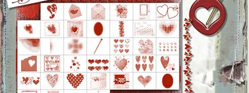 Free Photoshop Brushes for Valentine's Day