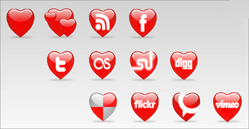 Valentine's Day Photoshop Resources: Free Icons
