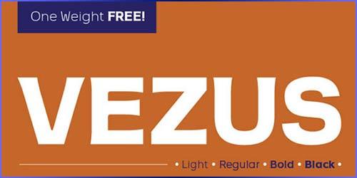 vezus Free Font
